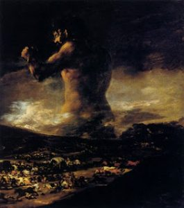 The Colossus by Fransesco Goya