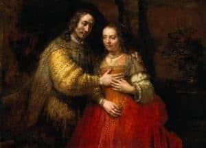 The Jewish Bride by Rembrandt