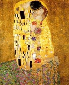 Love in Art depicted by The Kiss