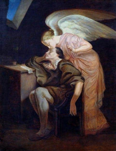 The Kiss of the Muse by Paul Cezanne