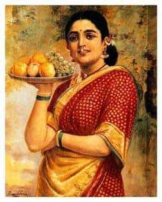The Maharashtrian Lady by Raja Ravi Varma