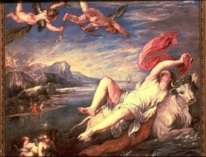 The Rape of Europa Love by Titian