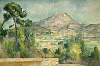 The Sainte-Victoire Mountains by Paul Cezanne