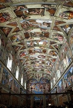 The Sistine Chapel ceiling by Michelangelo