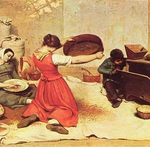 Women in Art depicted by The Wheat Sifters