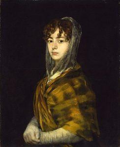 The portrait Sabasa Garcia by Fransesco Goya