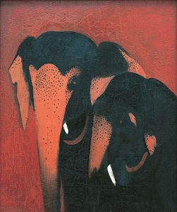 Two Elephants by Amrita Sher-Gil