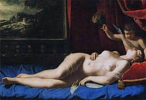 Venus and Cupid by Artemisia Gentileschi