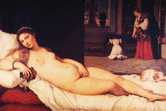 Famous Renaissance painting Venus of Urbino by Titian