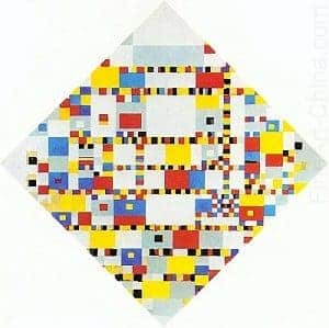 Famous Artwork Victory Boogie Woogie by piet mondrian
