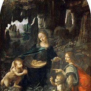 Women in Art depicted by Virgin of the Rocks