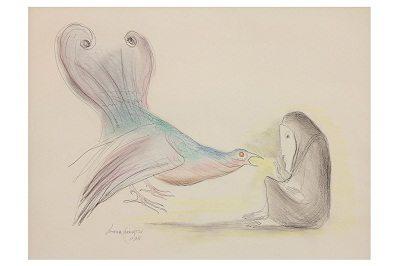 Woman with Bird, 1978 by Leonora Carrington