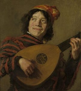 Young man playing the lute by Judith Leyster